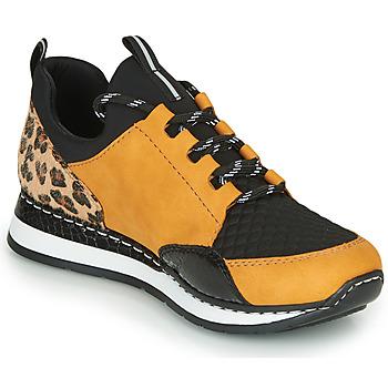 Sko Dame Lave sneakers Rieker TENUA Cognac / Sort
