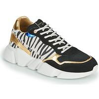 Sko Dame Lave sneakers Serafini OREGON Sort / Hvid / Guld