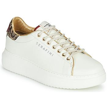 Sko Dame Lave sneakers Serafini J.CONNORS Hvid / Pyton