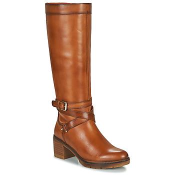 Sko Dame Chikke støvler Pikolinos LLANES W7H Brun