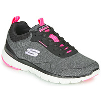 Sko Dame Fitness / Trainer Skechers FLEX APPEAL 3.0 Grå / Sort / Pink