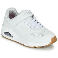 Sko Børn Lave sneakers Skechers UNO Hvid
