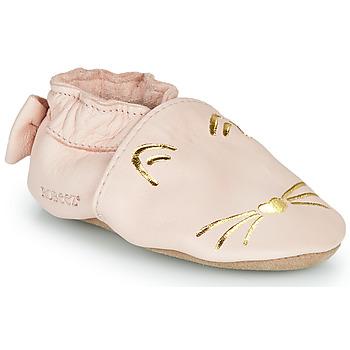 Sko Pige Tøfler Robeez GOLDY CAT Pink / Guld