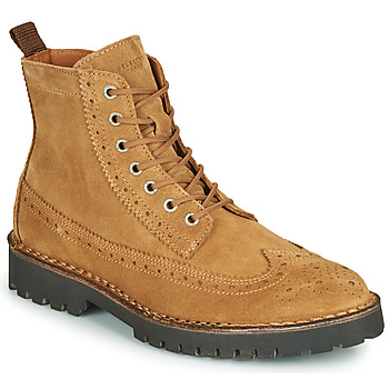 Sko Herre Støvler Selected RICKY SUEDE BROGUE BOOT Kamel