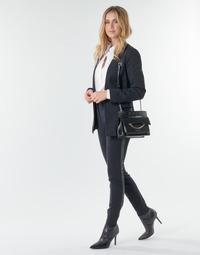 textil Dame Lærredsbukser Karl Lagerfeld PUNTO PANTS W/ LOGO TAPE Marineblå / Sort