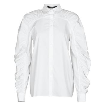 textil Dame Skjorter / Skjortebluser Karl Lagerfeld POPLIN BLOUSE W/ GATHERING Hvid