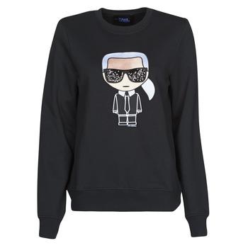 textil Dame Sweatshirts Karl Lagerfeld IKONIK KARL SWEATSHIRT Sort