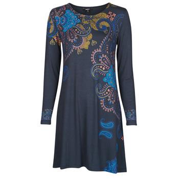 textil Dame Korte kjoler Desigual WASHINTONG Blå