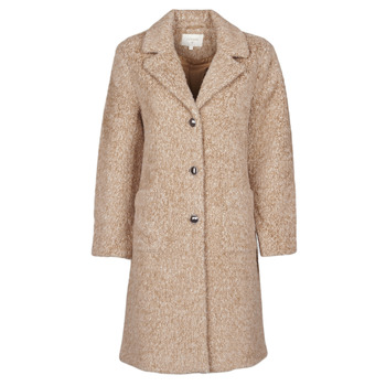 textil Dame Frakker Cream AMELIA COAT Beige