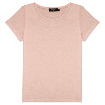 textil Pige T-shirts m. korte ærmer Deeluxe GLITTER Pink