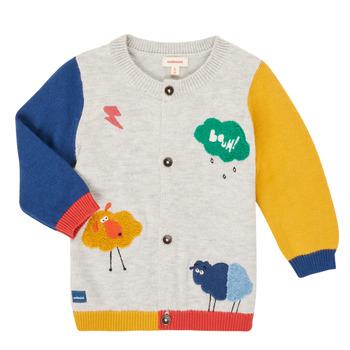 textil Dreng Veste / Cardigans Catimini CR18020-20 Flerfarvet