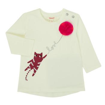 textil Pige Langærmede T-shirts Catimini CR10063-11 Pink