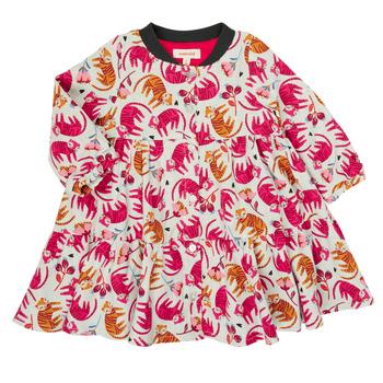 textil Pige Korte kjoler Catimini CR30093-35 Flerfarvet