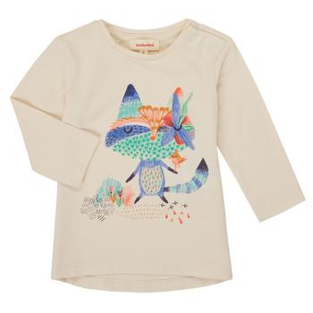 textil Pige Langærmede T-shirts Catimini CR10053-12 Hvid