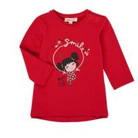 textil Pige Langærmede T-shirts Catimini CR10043-38 Rød