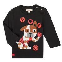 textil Dreng Langærmede T-shirts Catimini CR10022-02 Sort