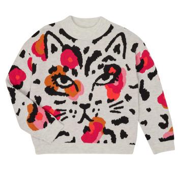 textil Pige Pullovere Catimini CR18035-11-J Flerfarvet