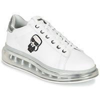 Sko Dame Lave sneakers Karl Lagerfeld KAPRI KUSHION Karl Ikonic Lo Lace Hvid / Sølv