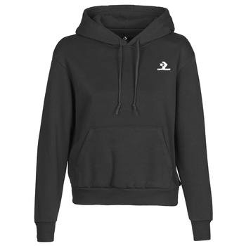 textil Dame Sweatshirts Converse CONVERSE WOMENS FOUNDATION PULLOVER HOODIE Sort