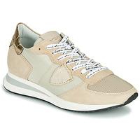 Sko Dame Lave sneakers Philippe Model TROPEZ X MONDIAL CROCO Beige