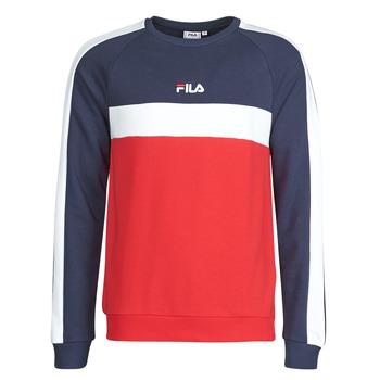 textil Herre Sweatshirts Fila CREW SWEATER Blå / Hvid / Rød