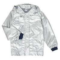 textil Pige Parkaer Petit Bateau LAETICIA Sølv
