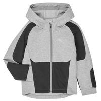 textil Dreng Sweatshirts Puma EVOSTRIPE HOODED JACKET Grå