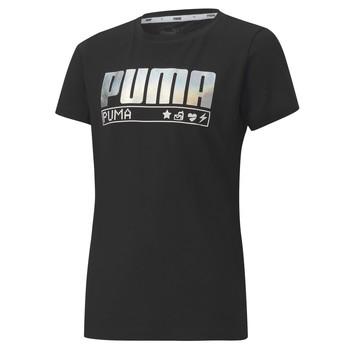 textil Pige T-shirts m. korte ærmer Puma ALPHA TEE 165 Sort