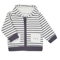 textil Dreng Veste / Cardigans Noukie's Z050151 Hvid / Blå