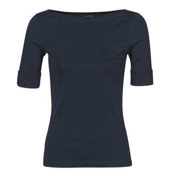 textil Dame Langærmede T-shirts Lauren Ralph Lauren JUDY Marineblå