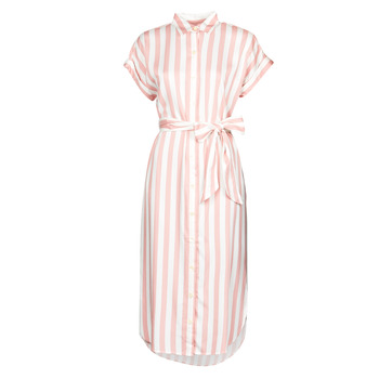 textil Dame Lange kjoler Lauren Ralph Lauren CICERO Hvid / Pink