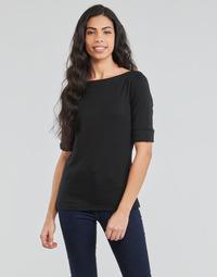 textil Dame Langærmede T-shirts Lauren Ralph Lauren JUDY Sort