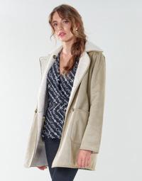 textil Dame Frakker Lauren Ralph Lauren RVRSBL FXSH-COAT Kamel