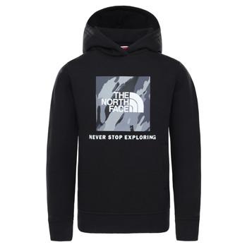 textil Dreng Sweatshirts The North Face NEW BOX CREW HODDIE Sort