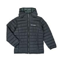 textil Dreng Dynejakker Columbia POWDER LITE HOODED JACKET Sort