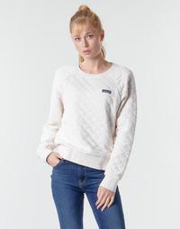 textil Dame Sweatshirts Patagonia W'S ORGANIC COTTON QUILT CREW Beige