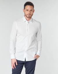 textil Herre Skjorter m. lange ærmer G-Star Raw DRESSED SUPER SLIM SHIRT LS Hvid