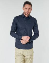 textil Herre Skjorter m. lange ærmer G-Star Raw DRESSED SUPER SLIM SHIRT LS Mazarin / Blå