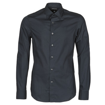 textil Herre Skjorter m. lange ærmer G-Star Raw DRESSED SUPER SLIM SHIRT LS Sort