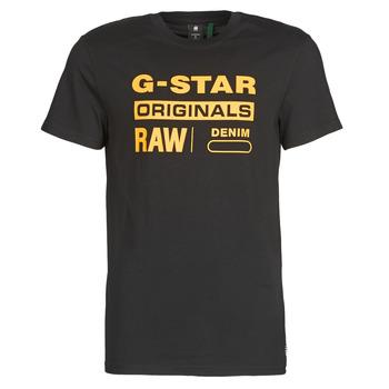 textil Herre T-shirts m. korte ærmer G-Star Raw COMPACT JERSEY O Mørk / Sort