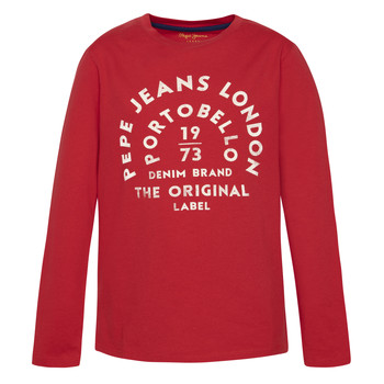 textil Dreng Langærmede T-shirts Pepe jeans ANTONI Rød