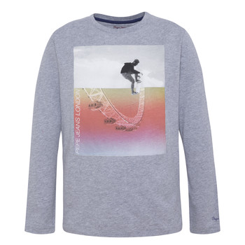 textil Dreng Langærmede T-shirts Pepe jeans EDGAR Grå
