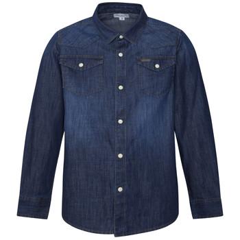 textil Dreng Skjorter m. lange ærmer Pepe jeans JHON Blå