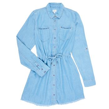 textil Pige Korte kjoler Pepe jeans ZOEY Blå