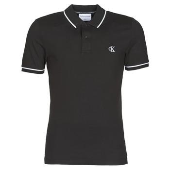 textil Herre Polo-t-shirts m. korte ærmer Calvin Klein Jeans TIPPING SLIM POLO Sort