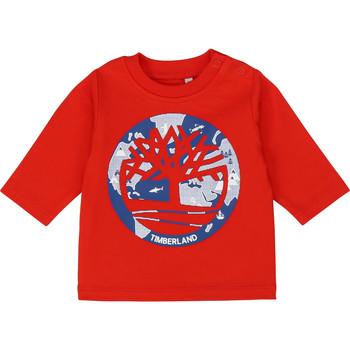 textil Dreng Langærmede T-shirts Timberland T95889 Rød