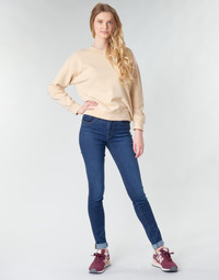 textil Dame Jeans - skinny Levi's 721 HIGH RISE SKINNY Blå