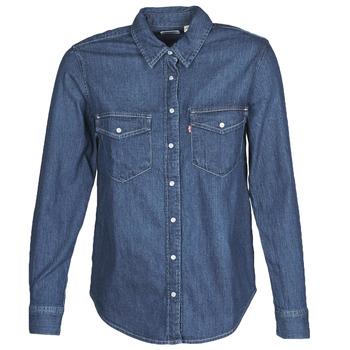 textil Dame Skjorter / Skjortebluser Levi's ESSENTIAL WESTERN Blå