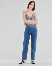 textil Dame Lige jeans Levi's RIBCAGE STRAIGHT ANKLE Blå