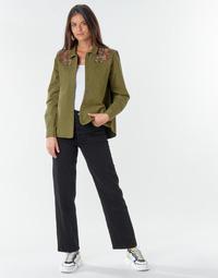 textil Dame Lige jeans Levi's RIBCAGE STRAIGHT ANKLE Sort / Hjerte